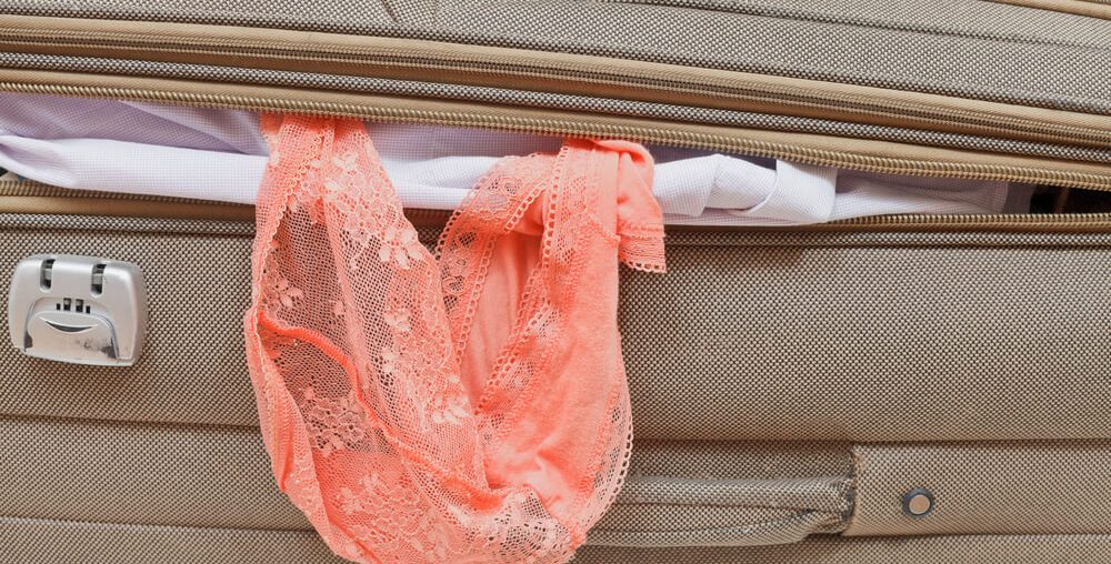 lingerie na mala de viagem